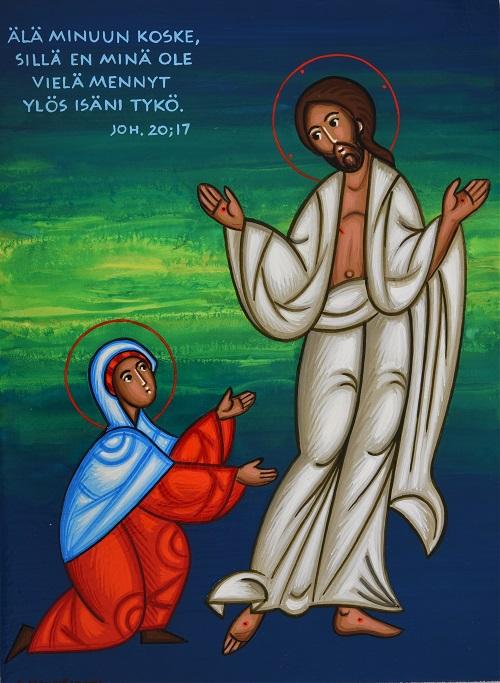 Magdalan Maria kohtaa Jeesuksen.